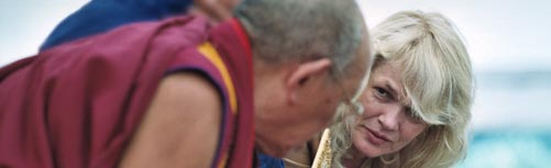 [Banner] Lopon Tsechu Rinpoche and Hannah Nydahl